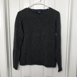 100% 2 Ply Chasmere Gray Sweater Charter Club